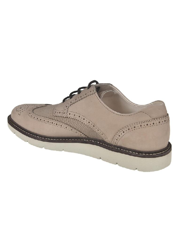 Dress X-h322 Suede Derby Shoes In Beige
