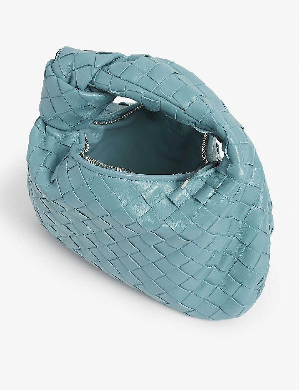 Bottega Veneta Large BV Jodie Leather Hobo Bag Burgundy 2020