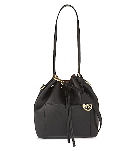 michael michael kors greenwich medium textured leather bucket bag in rh modesens com