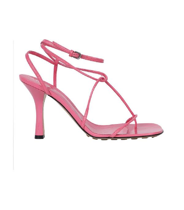 Bottega Veneta leather strappy high heels sandals squared