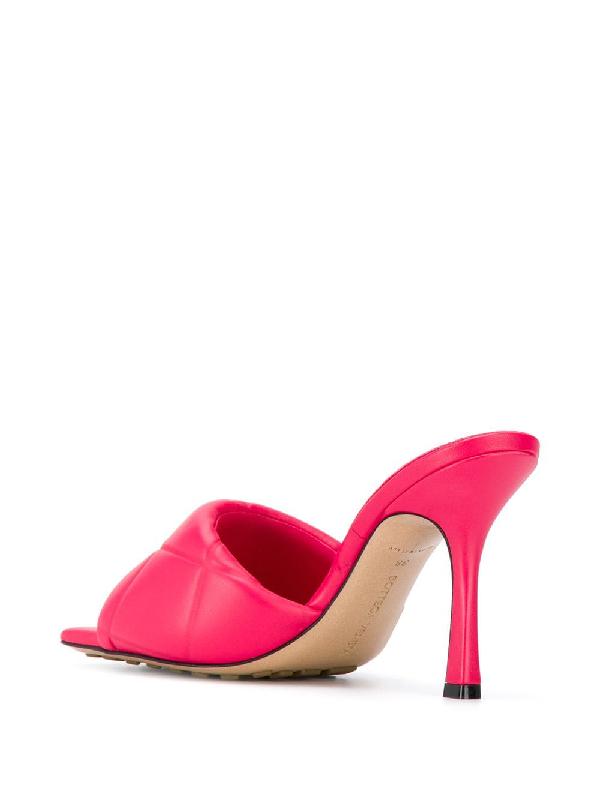 Bottega Veneta Bv Rubber Lido Sandals In Nappa Leather In