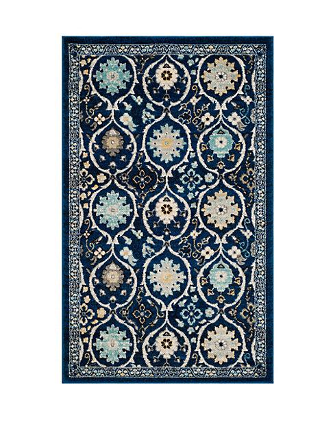 Safavieh Evoke Frieze Patterned Royal Blue Area Rug Modesens