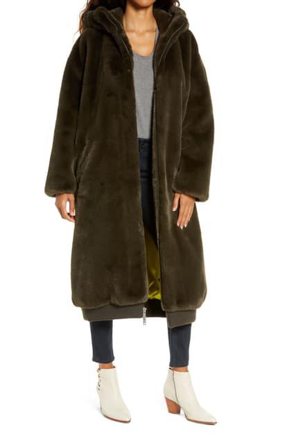 Ugg Koko Hooded Oversize Faux Fur Coat, Oversized Faux Fur Coat With Hood