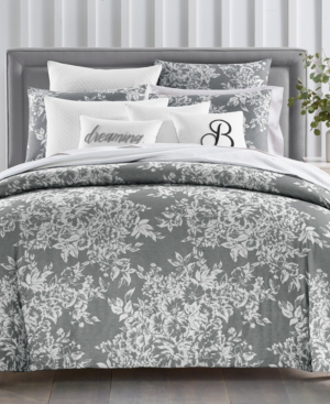Charter Club Closeout Damask Designs Woven Floral 300 Thread Count 3 Pc King Comforter Set Create In Grey Modesens