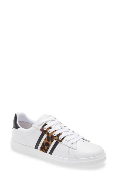 Tory Burch Howell Chevron Sneaker In White/ Barbados Leopard | ModeSens