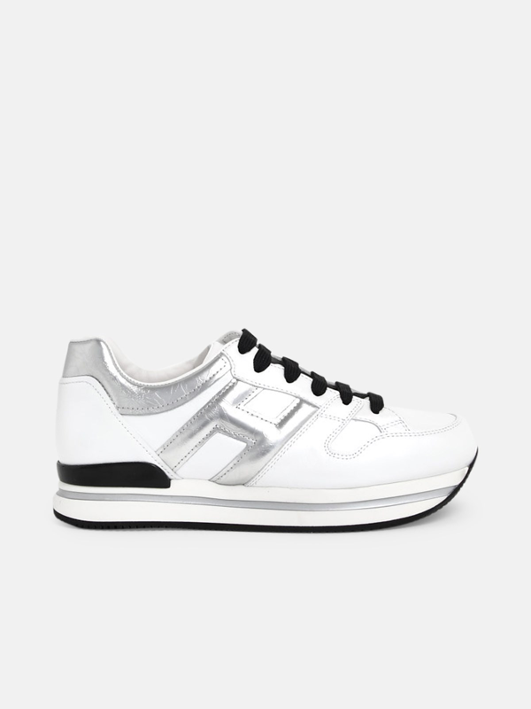 Hogan Sneakers H222 H Argent Bianche In White / Silver   ModeSens