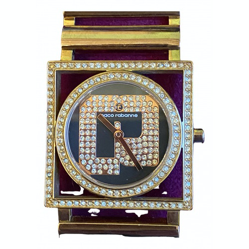 Pre Owned Paco Rabanne Watch In Gold Modesens