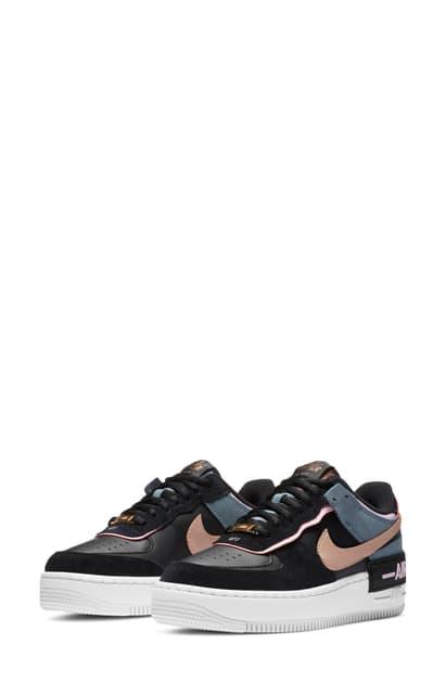 Nike Air Force 1 Shadow Women's Shoe (black) In Black/ Red Bronze ...