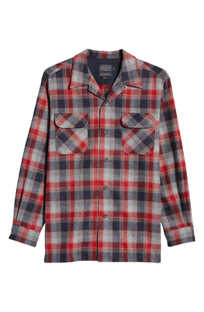 "Pendleton Red Replacement Board Shirt Front Button 0.53/"" 14mm"