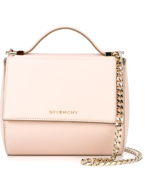 4d3b44d59fce2 Givenchy Pandora Mini Textured-Leather Shoulder Bag In Pink
