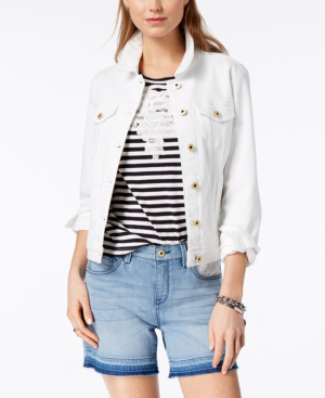 Tommy Hilfiger Cotton Denim Jacket Created For Macy S In White Modesens