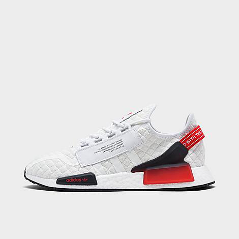 Adidas Men's Nmd R1 V2 Quilted Casual Shoes In Footwear White/core Black