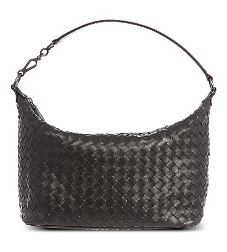 04f9ffbe0ee Bottega Veneta Banana Intrecciato Leather Shoulder Bag In Brown ...