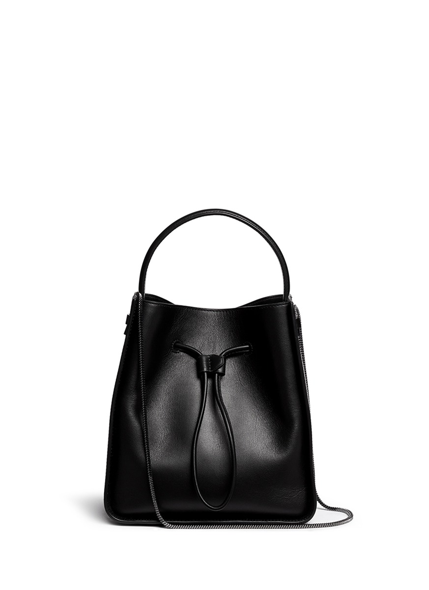 3.1 Phillip Lim  Soleil  Small Leather Drawstring Bucket Bag In Black 850994b556bcc