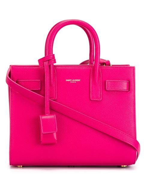 9c7e3eef34 Saint Laurent Baby Sac De Jour Carryall Bag In Lipstick Fuchsia ...