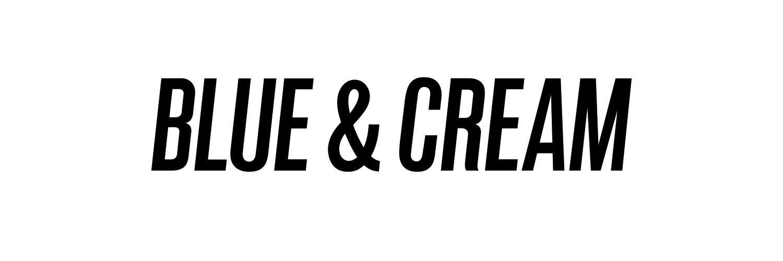 Blue & Cream