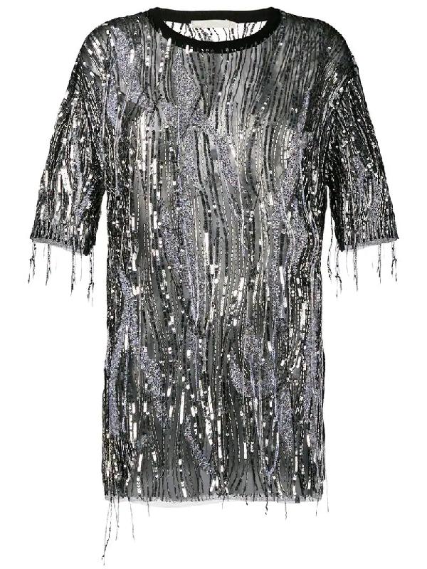 0202c50240ae Amen Sequin Embellished T-Shirt - Black | ModeSens