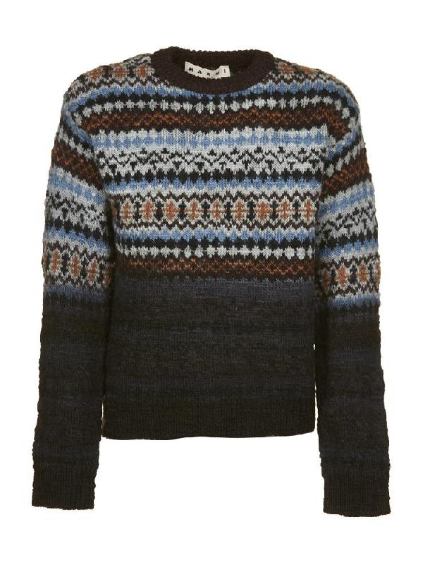 e07ce0611fe118 Marni Pattern Print Sweater In Multi | ModeSens