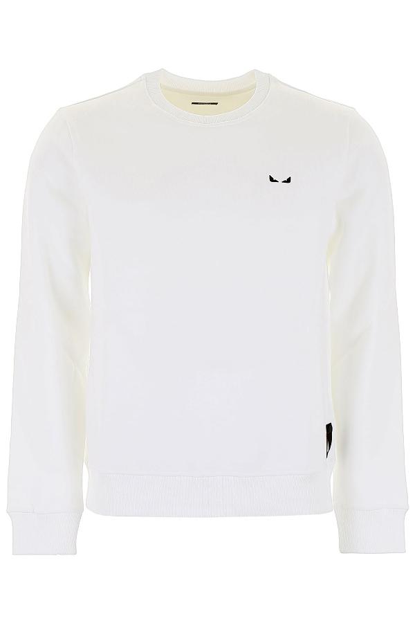 e4bd0f0b Fendi I See You Embroidered Logo Sweater In White   ModeSens