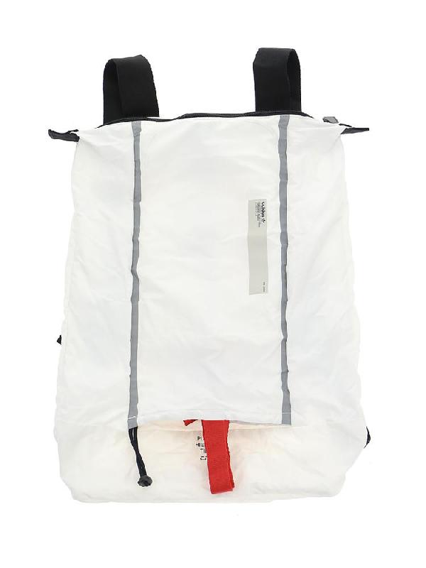 836b78752 Adidas Originals Adidas Top Zip Backpack In White