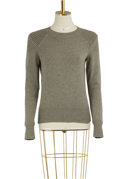 Etoile Isabel Marant Kleeza Cotton And Wool Sweater In Grey