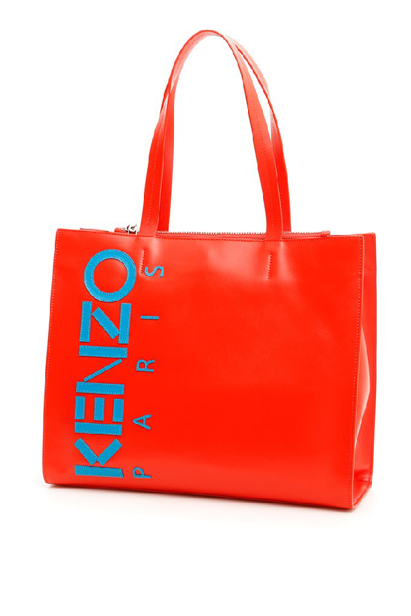 Kenzo Small Shopper Bag In Red