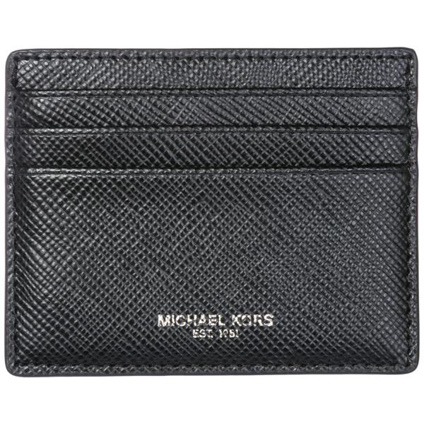 Michael Kors Men's Genuine Leather Credit Card Case Holder Wallet Harrison In Black