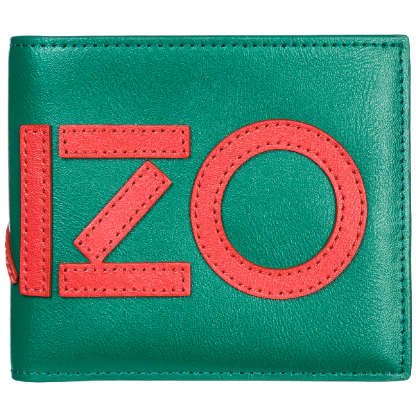 9f46ab1c79c7 Kenzo Men's Genuine Leather Wallet Credit Card Bifold In Green ...