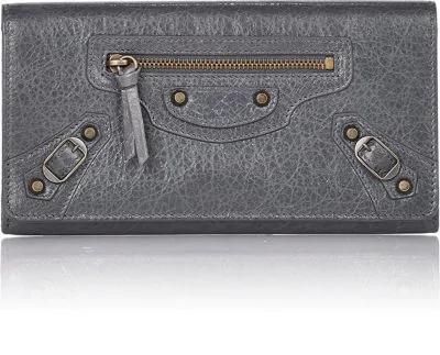 Balenciaga Classic Money Wallet - Gray In Grey