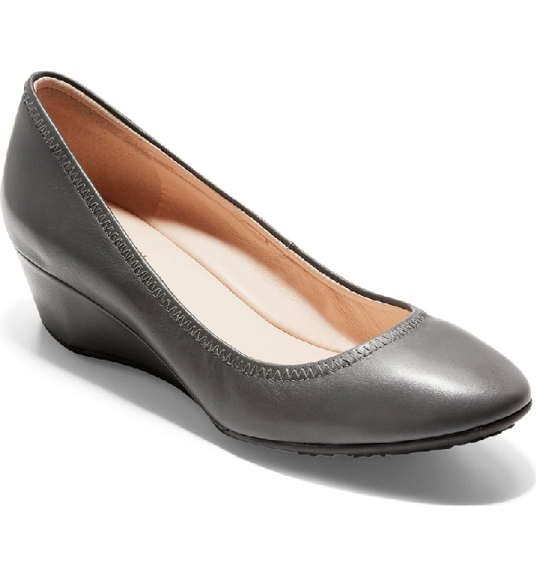e48393f0c59 A stretchy topline enhances the custom comfort of a versatile wedge crafted  from luxe leather. Style Name  Cole Haan Sadie Wedge Pump (Women).