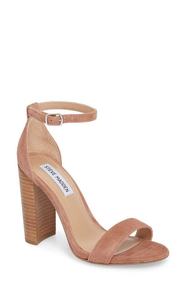 Steve Madden Carrson Ankle Strap Sandal In Tan/ Multi