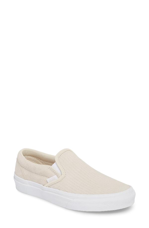 3cbda0038c Vans Classic Slip-On Sneaker In Moonbeam  Emboss Suede