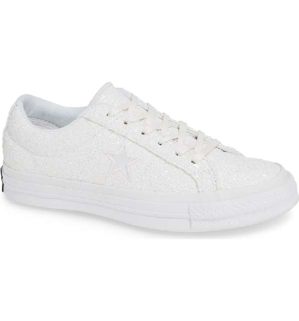 303334626fd7 Converse Women s One Star Glitter Low-Top Sneakers In White
