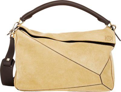 """Loewe """"Puzzle"""" Large Shoulder Bag In Gold"""