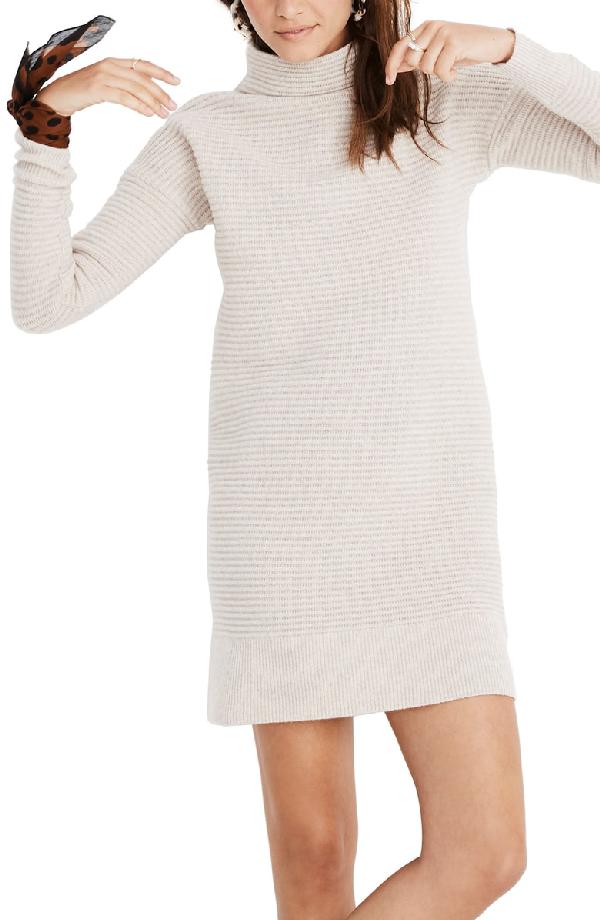 620ecfa4adc Madewell Skyscraper Merino Wool Sweater Dress In Heather Pebble ...