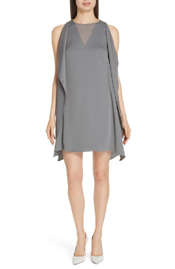 9bcc75ebb Ted Baker Amiila Waterfall Sleeveless Dress In Charcoal