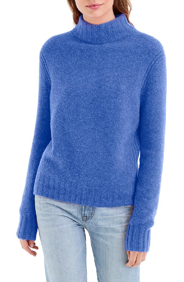 58c172ad326 J.Crew Mock Neck Sweater In Heather Regal Blue