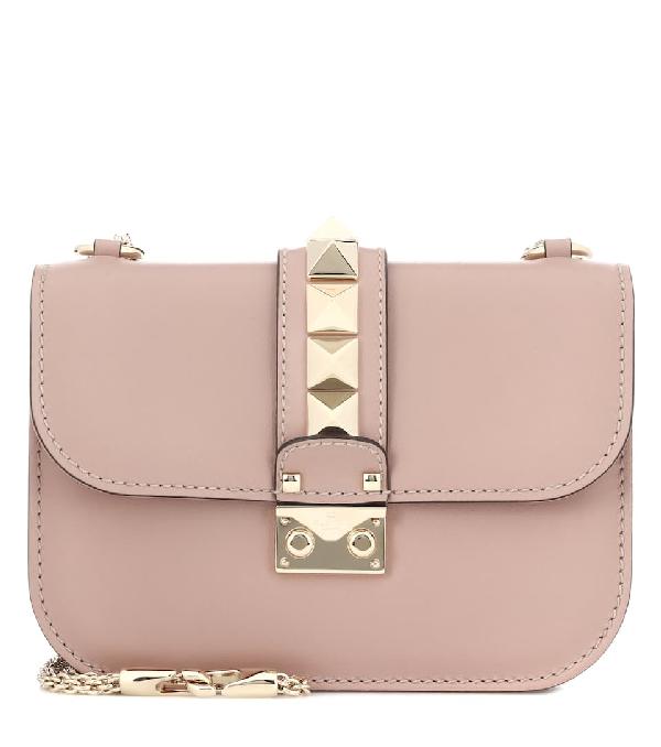 0c766906e1 Valentino Small Lock Rockstud Leather Shoulder Bag In Powder Pink ...