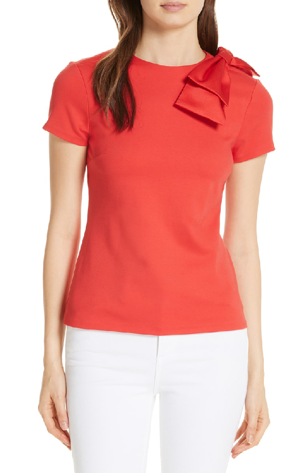 6eea9a064e16a Ted Baker Sadlie Joyous Bow Shoulder Top In Red