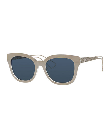 ed85c5b70f7 Dior Ama Caged Mirrored Sunglasses In Gold