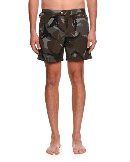 60bb19fa8e Tom Ford Camouflage-Print Swim Trunks In Brown | ModeSens