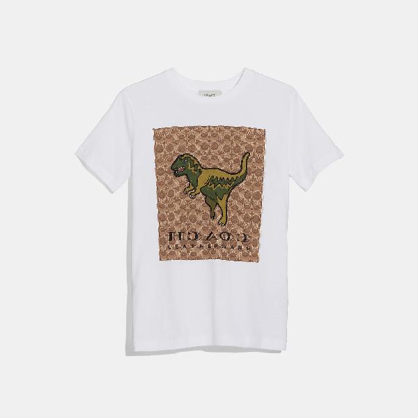 a848adf454 Coach Signature Rexy Cotton T-Shirt In White | ModeSens