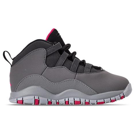 outlet store c497f d3e05 Girls' Toddler Jordan Retro 10 Basketball Shoes, Grey
