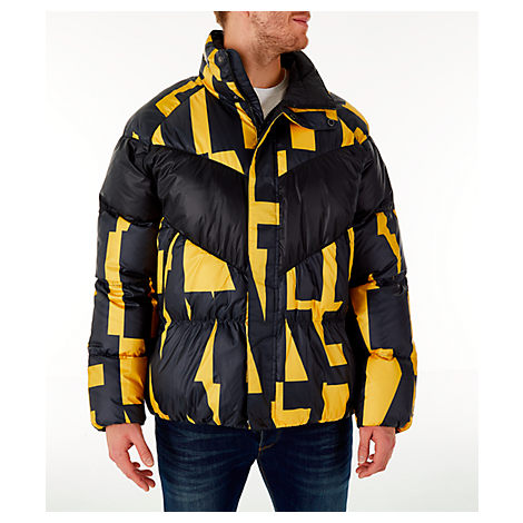 e7774922a Nike Men's Sportswear Down Filled Jacket, Yellow/Black | ModeSens