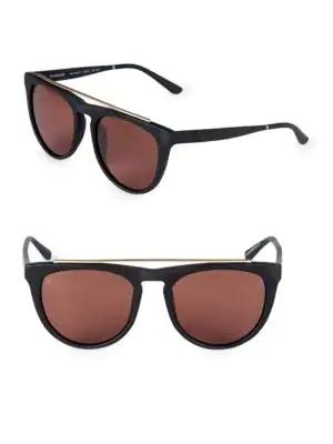 Smoke X Mirrors Road Runner 53Mm Browline Sunglasses In Black Brown