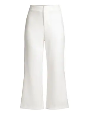 Alice And Olivia Alice + Olivia Lorinda High-Rise Cropped Wide-Leg Pants In Off White