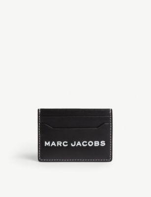 Marc Jacobs Leather Cardholder In Black