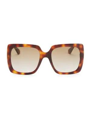 Gucci Avana 54Mm Square Sunglasses In Havana