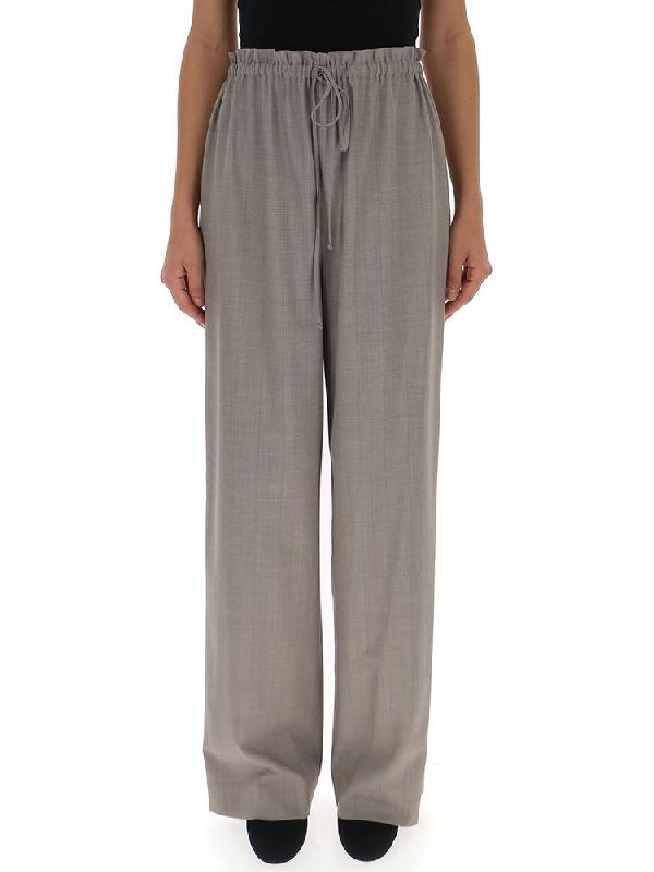 The Row Drawstring Casual Pants In Grey