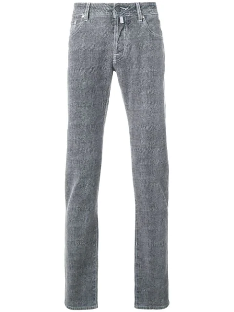 Jacob Cohen Vintage Knit Slim-fit Jeans - Blue